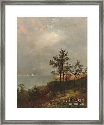 Gathering Storm On Long Island Sound, 1872 Framed Print