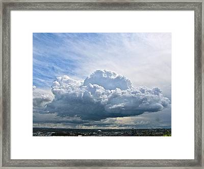 Framed Print featuring the photograph Gathering Storm by Sean Griffin