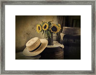 Framed Print featuring the photograph Gathering Sunshine by Robin-Lee Vieira