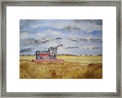 Gathering The Harvest Framed Print
