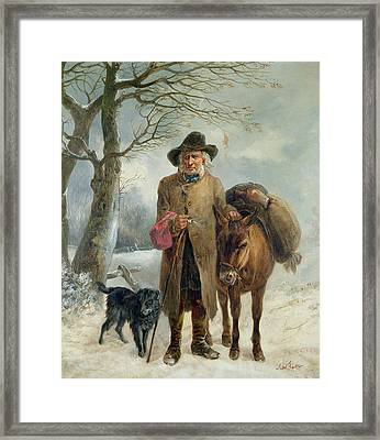 Gathering Winter Fuel  Framed Print by John Barker