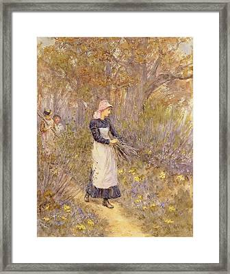 Gathering Wood For Mother Framed Print