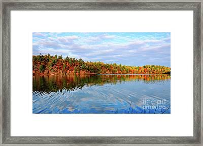Gatineau Park Autumn Landscape Framed Print