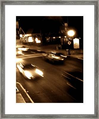 Gatlinburg At Night Framed Print
