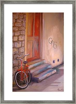 Framed Print featuring the painting Gato by Anne Dentler