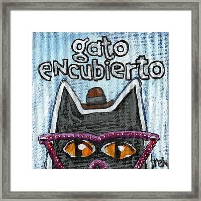 Gato Encubierto Framed Print