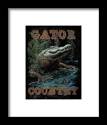 Alligator Framed Prints