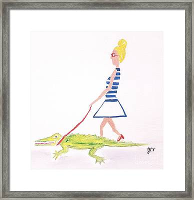 Gator Walk Framed Print by J Cv