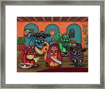 Gatos De Santa Fe Framed Print