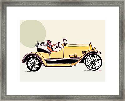 Saturday Summer  Framed Print by Cecely Bloom