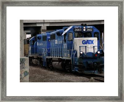 Gatx Freight Train Framed Print by Scott Hovind