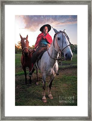 Framed Print featuring the photograph Gaucho Argentino by Bernardo Galmarini