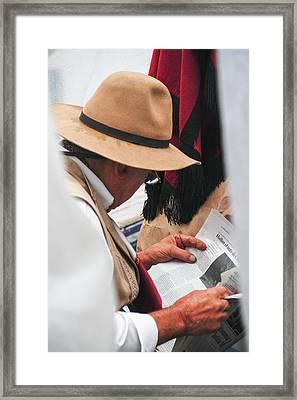 Gaucho Reading Framed Print