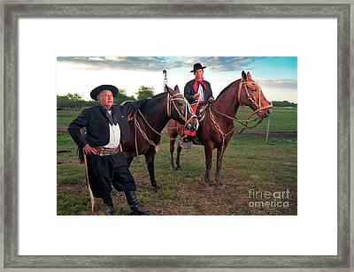 Framed Print featuring the photograph Gauchos by Bernardo Galmarini