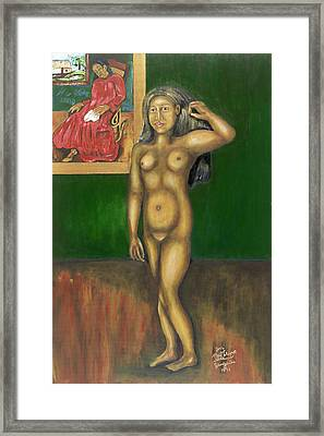 Gauguin Backgrounded Framed Print by Neil Trapp