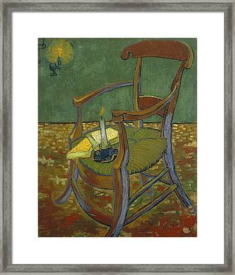 Framed Print featuring the painting Gauguin's Chair by Van Gogh