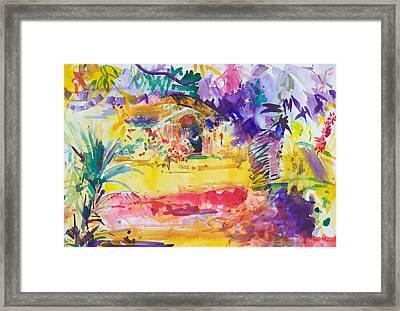 Gauguin's Garden Framed Print by Peter Graham