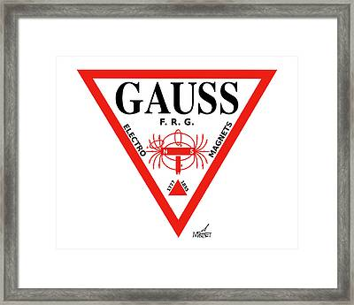 Gauss Framed Print