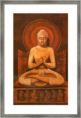 Gautam Buddha, Hindu Vadic Artwork India Framed Print by Jagannath