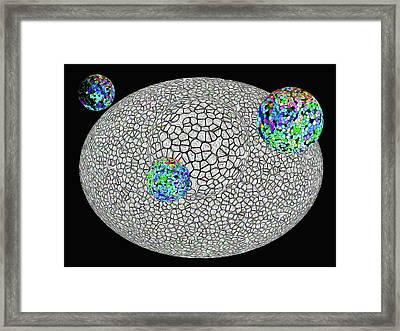 Gauzean Orbits 2a Framed Print by Bruce Iorio