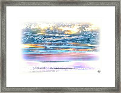 Framed Print featuring the photograph Gauzy Sunset by Walt Foegelle