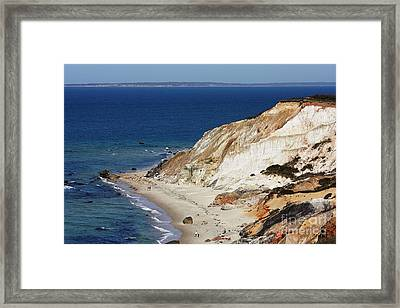 Gay Head Cliffs And Beach Framed Print by Carol Groenen