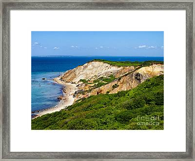 Framed Print featuring the photograph Gay Head Cliffs by Mark Miller