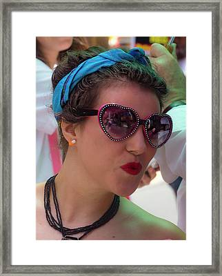 Gay Pride 2017 Nyc Heartshaped Sunglasses Framed Print by Robert Ullmann