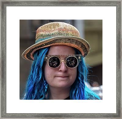 Gay Pride 2017 Nyc Straw Hat Framed Print by Robert Ullmann