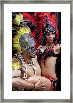 Gay Pride 6 26 11 Dancers Framed Print by Robert Ullmann