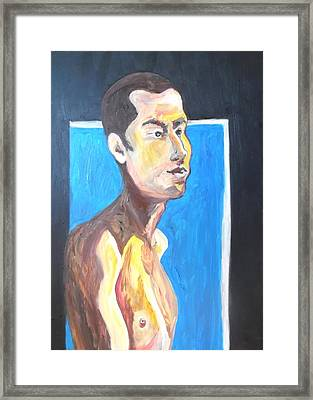 Framed Print featuring the painting Gay Survivor by Esther Newman-Cohen