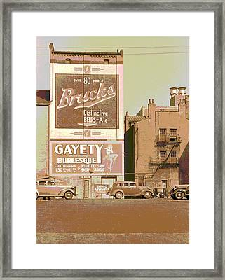 Gayety Burlesque Parking Framed Print by Padre Art