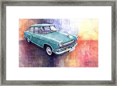 Gaz 21 Volga Framed Print by Yuriy  Shevchuk