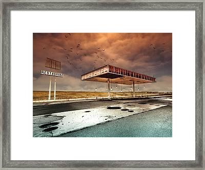 Gaz Bar Blues Framed Print by David Senechal Photographie