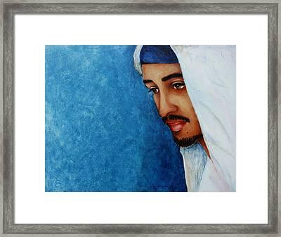 Gaze Of Peace Framed Print by Jun Jamosmos