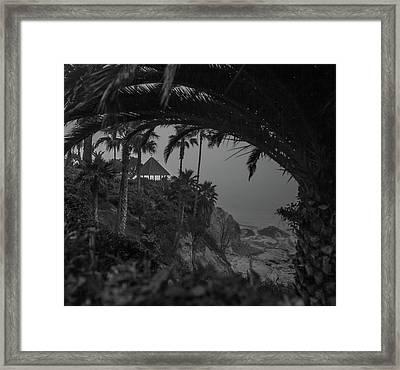 Framed Print featuring the photograph Gazebo Along Heisler Park by Cliff Wassmann