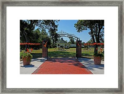Framed Print featuring the photograph Gazebo At Celebration Park by Judy Vincent