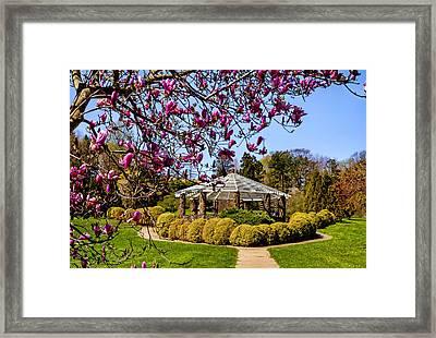 Gazebo At Deep Cut Gardens In Middletown Nj Framed Print