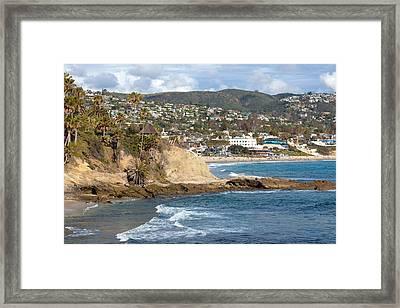Gazebo At Main Beach Laguna Framed Print by Cliff Wassmann