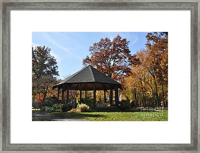 Gazebo At North Ridgeville - Autumn Framed Print