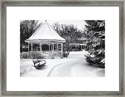 Gazebo At Windom Park Framed Print