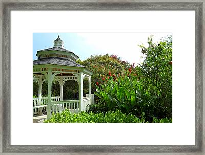 Gazebo Flower Garden Framed Print by Sheri McLeroy