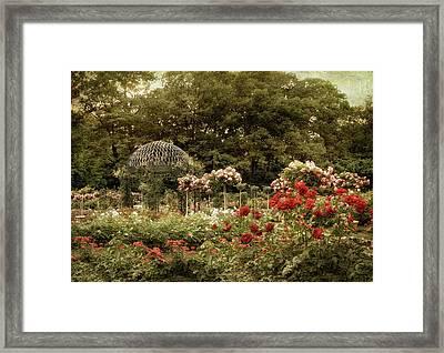 Gazebo Garden Splendor Framed Print by Jessica Jenney