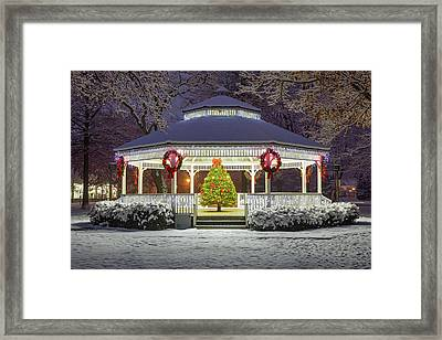 Gazebo In Beaver Pa Framed Print