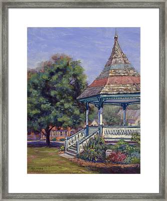 Gazebo New Boston Framed Print