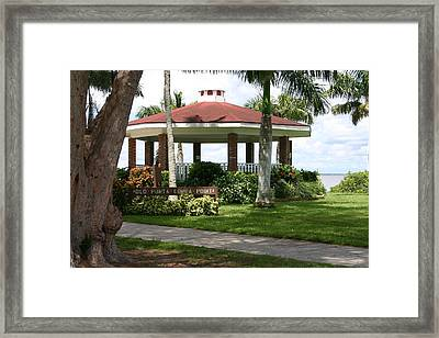 Gazebo Punta Gorda Fl Framed Print by Francesco Roncone