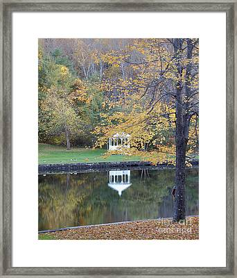 Gazebo Reflection Framed Print by Faith Harron Boudreau