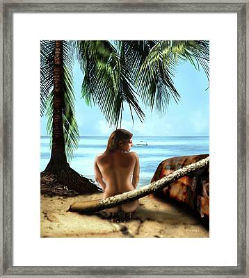 Gazing At The Ocean Framed Print