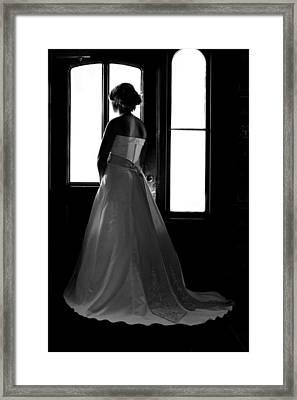 Gazing Bride Framed Print by David Paul Murray