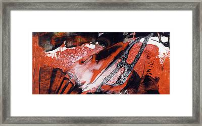 Gazing On A City - Large Orange Contemporary Abstract Art Framed Print by Modern Art Prints
